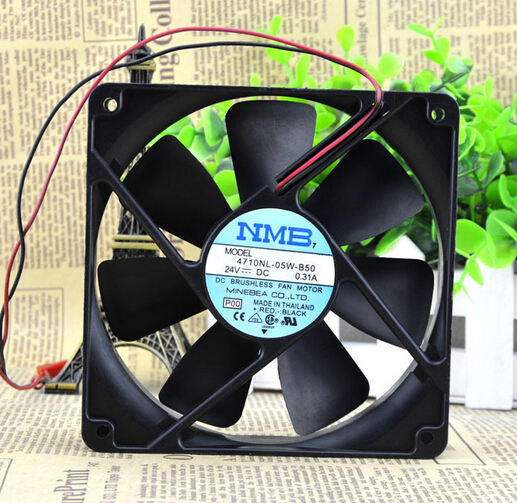 NMB 12CM 12025 24V 0.31A 4710NL-05W-B50 inverter fan silent fan