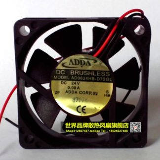 New original ADDA AD0624HB-D72GL DC24V 0.09A 2 line 60 * 60 * 15MM inverter fan