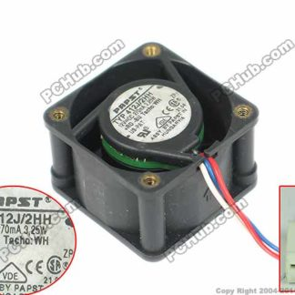 ebmpapst 412J/2HH Server Square fan DC 12V 3.25W