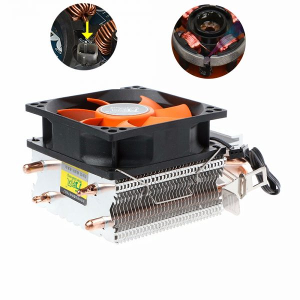 2 Heatpipes Radiator Aluminium PC CPU Cooler Cooling Fan For Intel 775/1155 AMD 754/AM2 Computer Fans & Cooling High Quality C26