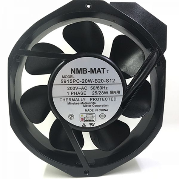 High Temperature Resistance 200V NMB 5915PC-20W-B20 Metal Frame Cooling Fan