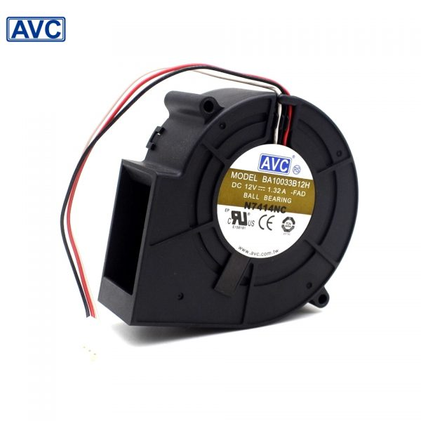 Free shipping original AVC 9733 DC 12V 1.32A BA10033B12H 3 wire turbine cooling fan blower
