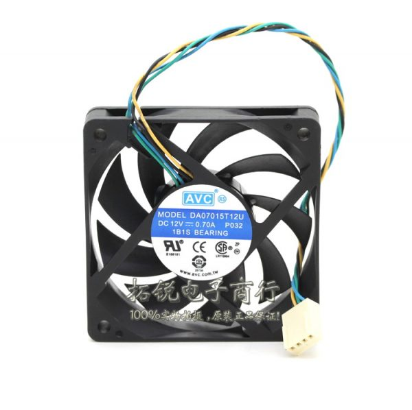 original authentic DA07015T12U 7015 7cm 12V 0.7A four winds of wire PWM CPU fan for AVC 70*70*15mm