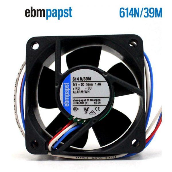 ebmpapst 614 N/39M 614N39M DC 24V 58mA 1.4W 60x60x25mm Server Square fan