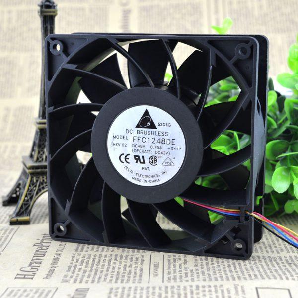 12038 12CM wind capacity double ball bearing fan 48V 0.75A FFC1248DE
