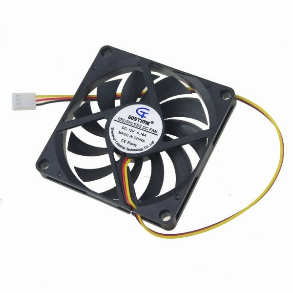 1 Piece Gdstime 3Pin DC Fan 80mm 80x80x10mm 8cm 12V PC Computer CPU Cooler Cooling Fan 3 Wire FG 8010 Mute Cooler High Quality