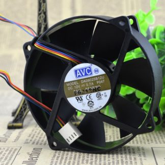 SSEA New cooling fan for AVC DA09025B12U P047 12V 0.7A 9CM 90*90*25MM PWM temperature control Fan