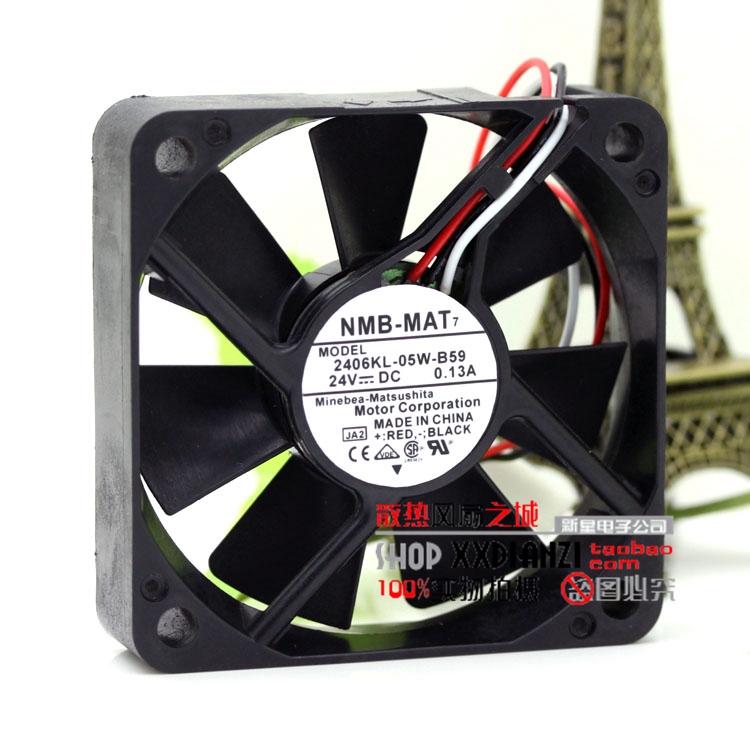 Free Delivery Original 24V 0 13A 2406KL-05W-B59 6015 6CM 3 wire inverter  cooling fan