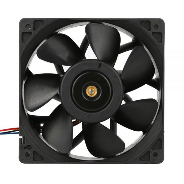 mokingtop 120*120*38mm 2x 6000RPM Cooling Fan Replacement 4-pin Connector For Antminer Bitmain S7 S9 Black