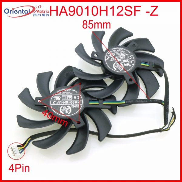 Free Shipping HA9010H12SF-Z 12V 0.57A 85mm 40*40*40mm 4Wire 4Pin For Dataland Graphics Card Cooling Fan