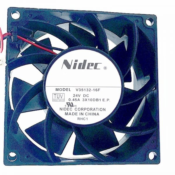 Original NIDEC V35132-16F 80*80*38mm DC 24V 0.45A 8CM 2 line large wind frequency converter cooling fan