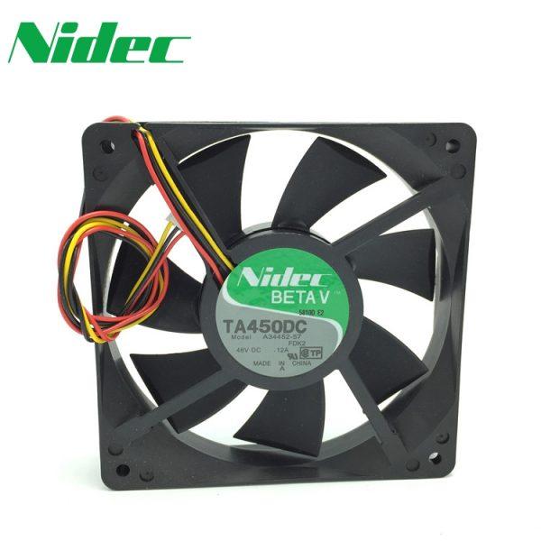 nidec 120*120*25mm TA450DC A34452-57 48V 0.12A 12CM 12025 converter fan