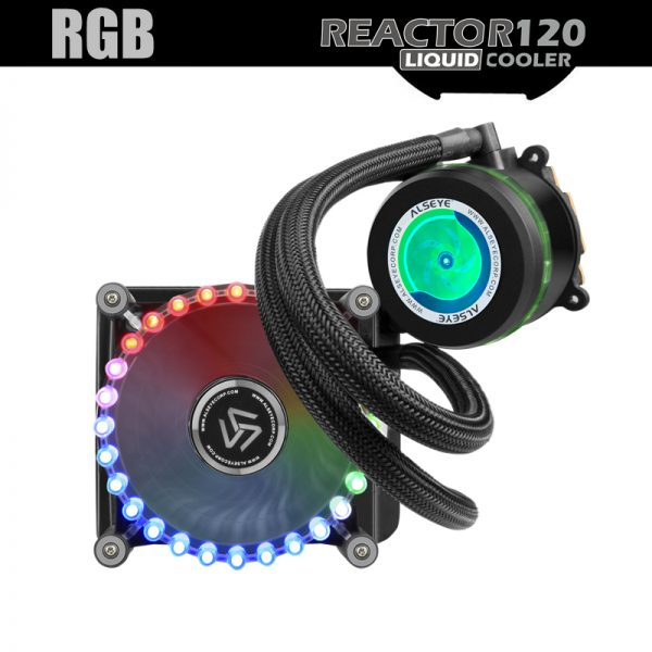 ALSEYE Water Cooling Reactor-120 LED RGB Cooling Fan and Pump 4pin PWM 120mm CPU Fan Water Cooler for All CPU