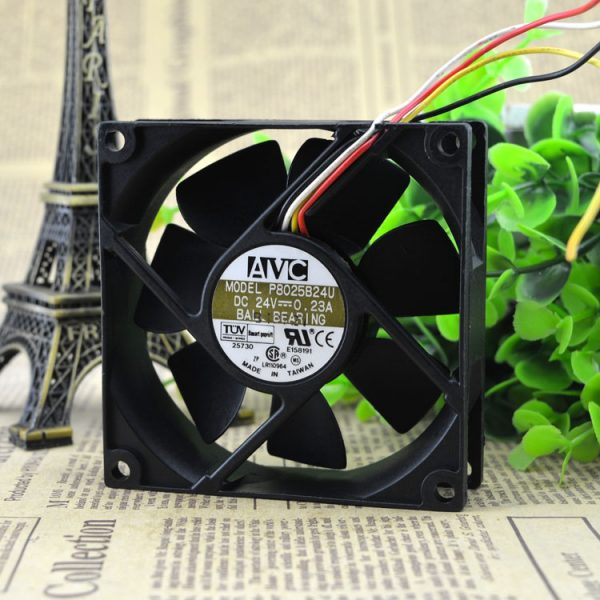 Free Delivery. 8 cm 8 cm 8025 industrial computer cooling fan P8025B24U 24 v 0.23 a frequency converter
