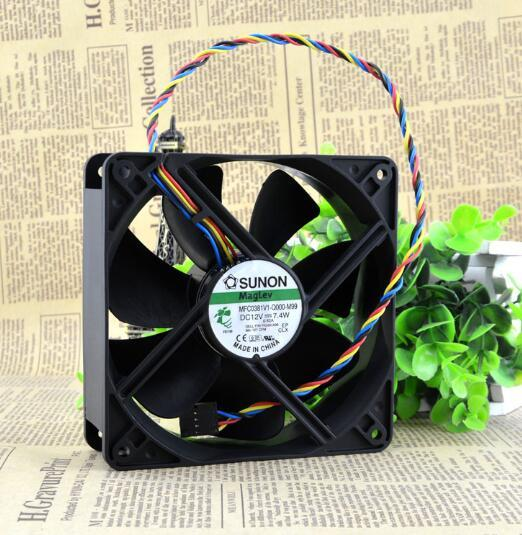 SUNON MFC0381V1-Q000-M99 120*120*38mm DC 12V 7.4W 12cm (4 Wire 5 Pin) Chassis Cooling Fan