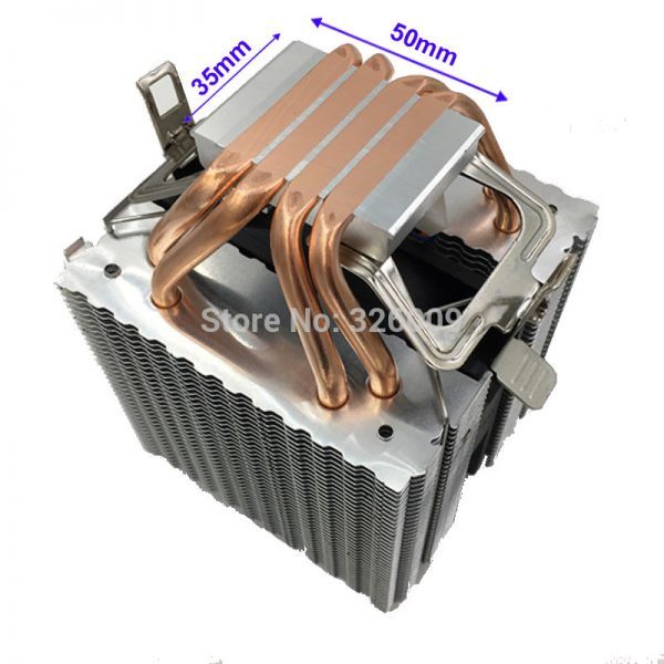 ARSYLID CN-409C-P CPU cooler 4pin PWM 9cm fan 4 heatpipe daul-tower cooling for Intel LGA775 1151 115x 1366 2011 for AMD AM3 AM4