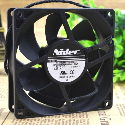 Original NIDEC 92*92*25mm 9cm DC 12V 0.35A T92T12MS3A7-57A03 Cooling Fan