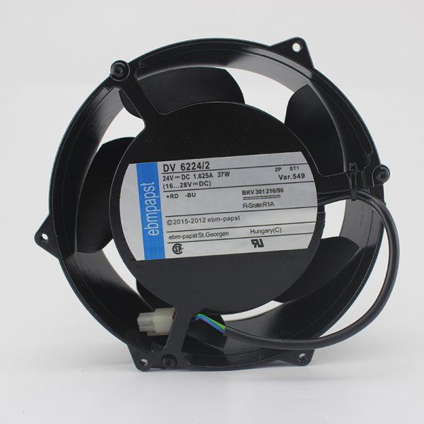 ebmpapst DV6224/2 DV 6224/2 Server Square Fan DC 24V 37W 172x172x51mm 3-wire