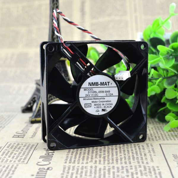 Free Delivery. 8 cm8025 24 v 0.12 A rl 3110-05 w - B49 inverter fan three lines