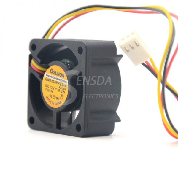 Sunon GM1204PKV3-A DC 12V 0.6W 3Wire server inverter axial Cooling Fans
