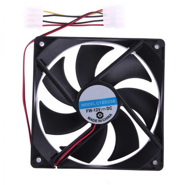 2Pcs PC CPU Cooler Radiator 120mm Cooling Fan 4Pin DC 12V Brushless Radiating for Computer Desktop PC 120x25mm
