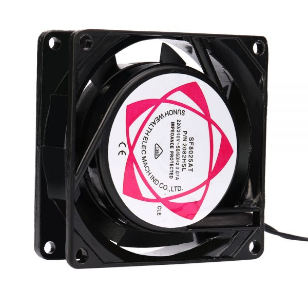 Del 220V 240V 8cm 80mm x 80mm x 25mm AC Metal Brushless Cooling Industrial Fan td904 drop shipping