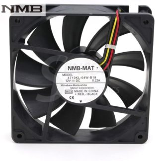 NMB 4710KL-04W-B19 12V 0.16A 12cm 120mm 12025 computer cpu inverter server case cooling chassis fans