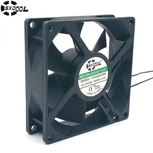 SXDOOL SXDE8025HB Brushless aial fan motor ec fans 80*80*25mm 80mm ac 110v 115V 220v 230V 50/60Hz 6W 3000RPM 36.5CFM customized