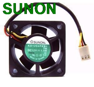 Original Sunon KD1204PKB1 4020 4CM 40mm cooling fan switch 12V 1.1W industrial cooler