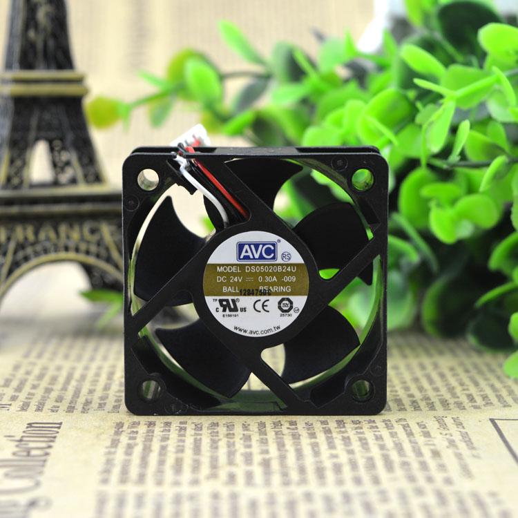 AVC DS05020B24U 5020 24V 0.30A three-wire double bead inverter fan