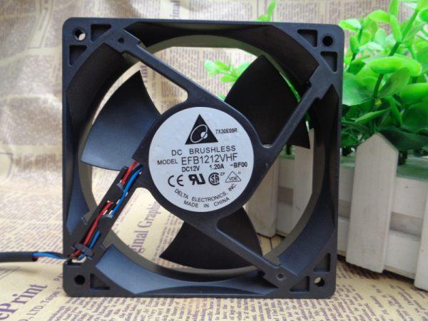 Delta EFB1212VHF 120x120x32mm 12cm DC 12V 1.20A 3 Lines Server Inverter Axial Cooling Fan