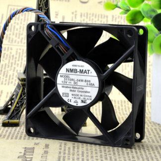 The original NMB 3110RL-04W-B86 80*80*25 12V 0.65A 4 line PWM control case fan