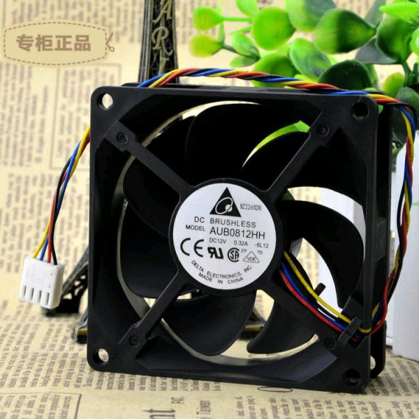 Free Delivery. Authentic 8 cm 8025 high temperature air volume fan AUB0812HH nano ceramic bearing