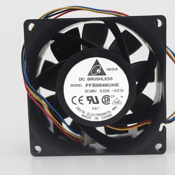 Delta PFB0848UHE 8CM 8038 48V 0.65A pwm wind capacity cooling fan 80*80*38mm 7500RPM 107.3CFM