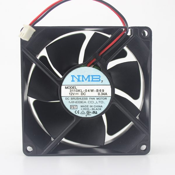 3110KL-04W-B69 12V 0.34A original 80 * 80 * 25 axial fan