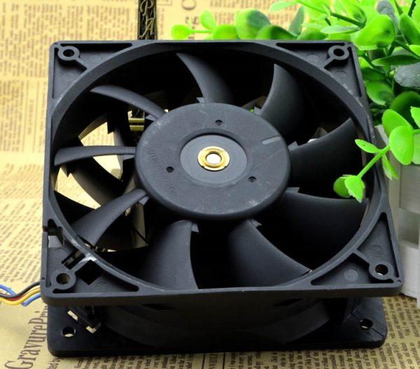 SSEA New cooling fan for Delta FFC1212DE ball bearing Fan PWM intelligent control speed 12V 2.4A 12CM 120*120*38mm 4pin