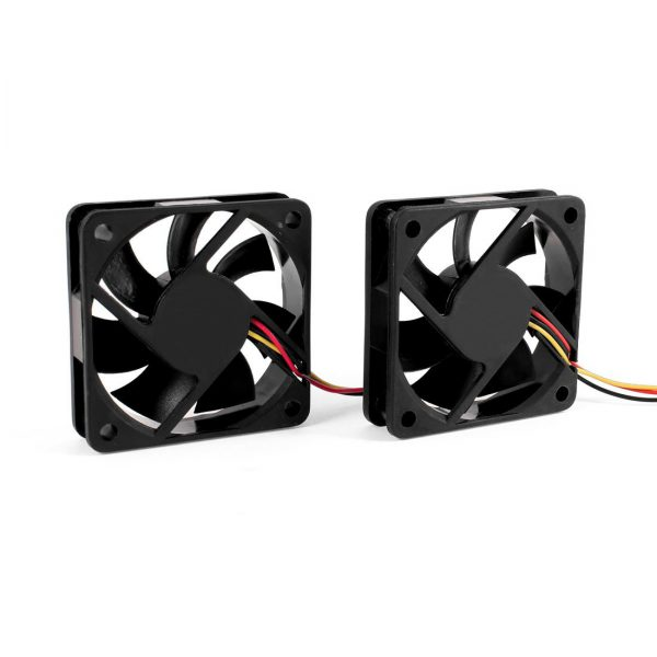 GTFS Hot 2 PCS 60mm 6cm DC 12V 3 Pin Computer Case CPU Cooler Cooling Fan Black