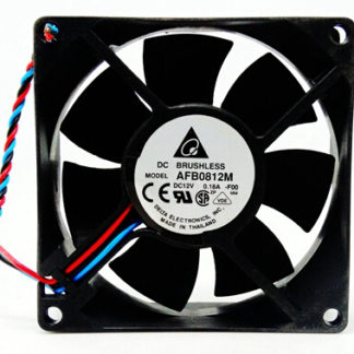 Genuine Delta AFB0812M 80*80*25 12V 0.18A 2/3 line double ball computer fan
