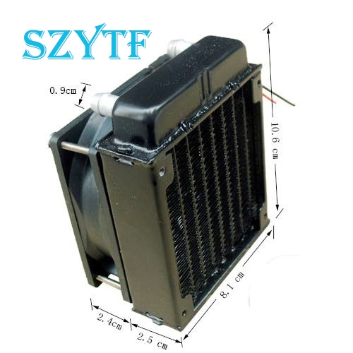 SZYTF 80mm Radiator computer CPU cooling water cooler radiator fan cooling system devices