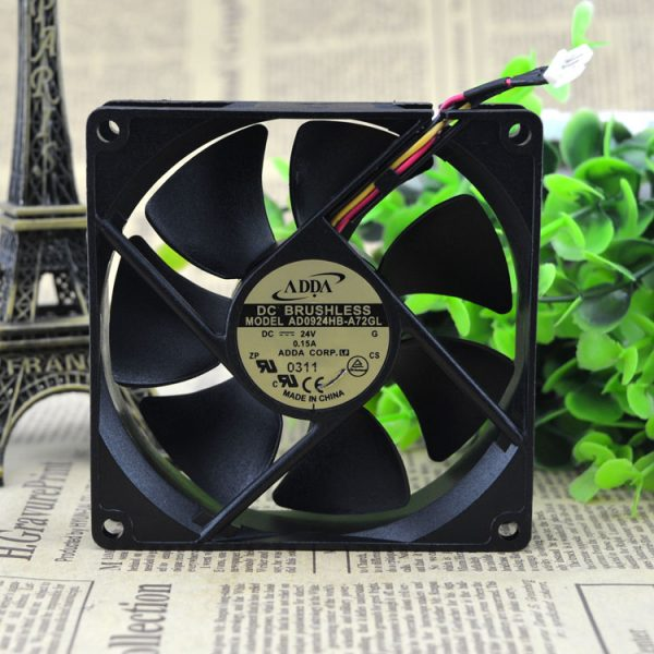Free Delivery. 9 cm 9025 double ball inverter fan 24 v 0.15 A AD0924HB - A72GL 3 lines