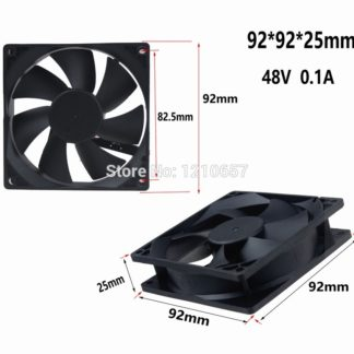 1 PCS Gdstime 9225B 90mm 92MM x 25MM Dual Ball DC 48V 2Pin Cooler Cooling Fan