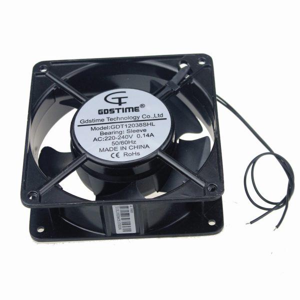 10Pcs Gdstime 120x38mm AC 220V 240V 120mm 12cm 12038S Industrial Cooling Fan