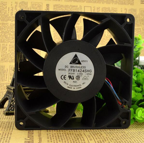 Delta 14CM DC 24V 2.30A FFB1424SHG 140*140*50mm High Quality 4-wire PWM Temperature Control Thermal Radiation Fan