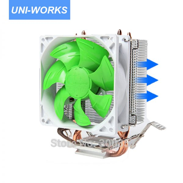 4 Pin Desktop Computer PC 2 heatpipe Universal CPU Cooler computer CPU fan lga775/LGA1150 1155 1156/AM2/AM3