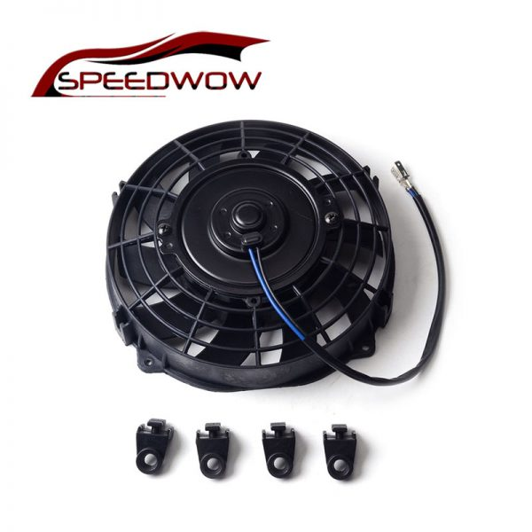 "SPEEDWOW Universal 7"" Motor Engine Radiator Oil Cooler Cooling Electric Pull Push Fan Radiator Engine Cooling Fan 12V 80W"