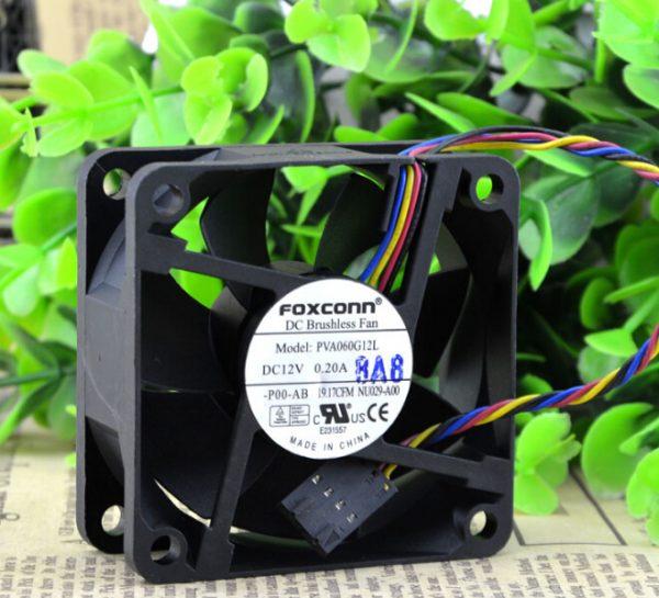 Wholesale: PVA060G12L 12V 0.20A 6CM 60*60*25 PWM 4 line temperature control fan