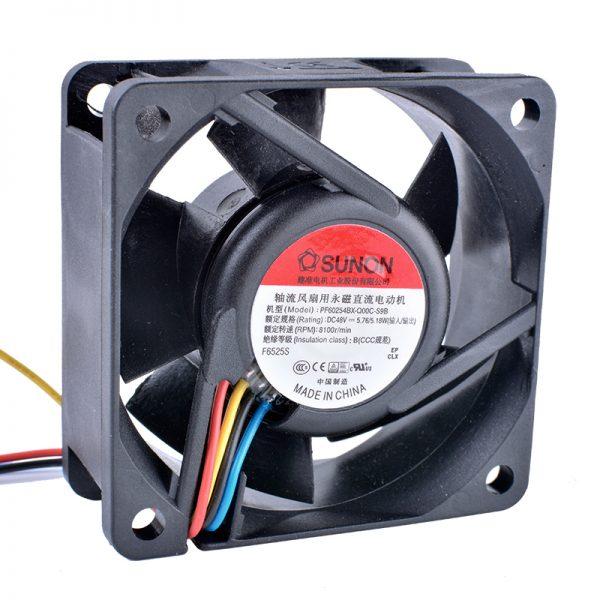 COOLING REVOLUTION PF60254BX-Q00C-S9B 6025 6CM 48V Inverter Four-wire Fan