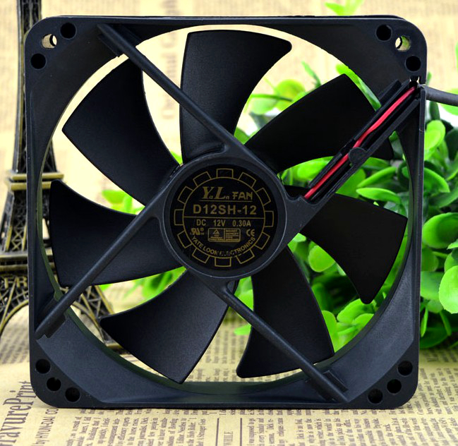 SSEA New server cooling fan for Yate Loon D12SM-12 D12SH-12 12V 0.30A 120*120*25MM 12CM