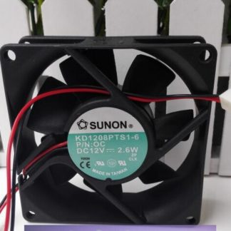 SUNON KD1208PTS1-6 DC 12V 2.6W 80*80*25 8CM 2-Line Silent cooling fan