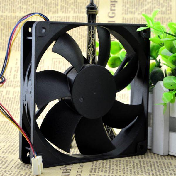ADDA AD1212UB-A73GL 12025 120*120*25mm 12CM DC 12V 0.50A 4-wires temperature control box cooling fan